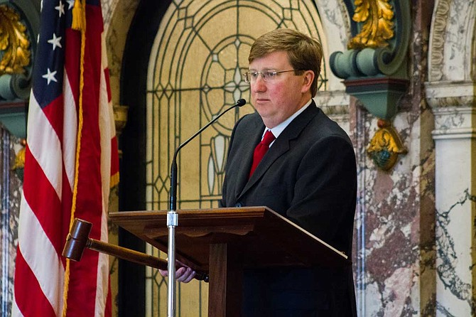 """Governor Tate Reeves announced additional counties that have qualified to be under mask mandates under his """"Safe Recovery"""" executive order that is in effect through December 11. Photo by Stephen Wilson"""
