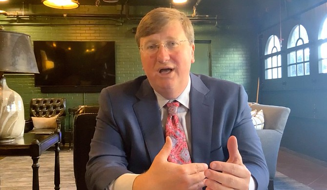 """Mississippi Gov. Tate Reeves is using his state budget proposal to appeal to a conservative voting base. He's proposing a new $3 million """"Patriotic Education Fund"""" because he says young people are being filled with ideas that undermine the belief in American greatness. Photo courtesy State of Mississippi"""