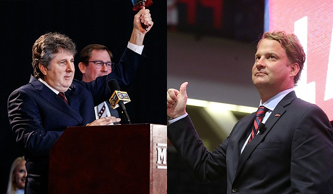 Mike Leach (left) and Lane Kiffin (right) Photos courtesy MSU Athletics and Ole Miss Athletics