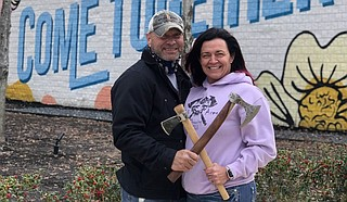 Black Axes Throwing Club owners Keith and Kathy Black Photo courtesy Black Axes Throwing Club