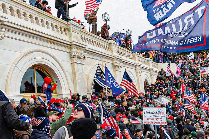 Mississipians were among those who stormed the U.S. Capitol on Wednesday, Jan. 6, 2020. Photo by Blink Fanaye