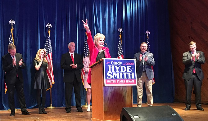 Republican U.S. Sen. Cindy Hyde-Smith of Mississippi won a 2018 special election and a 2020 regular election by making a single overarching promise—to support President Donald Trump. Photo by Kayode Crown