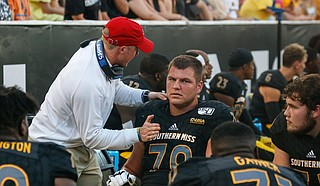 Mississippi legislators are pushing forward with proposals to let college athletes earn money from their own name, image or likeness. Photo courtesy USM Athletics