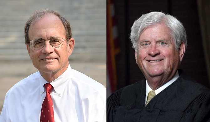 Lt. Gov. Delbert Hosemann (left) and Mississippi Supreme Court Chief Justice Mike Randolph (right) made the announcement during a Wednesday press conference. Photo courtesy Delbert Hosemann/Mike Randolph