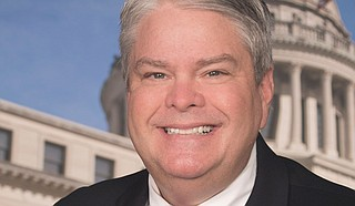 """""""This is about transparency,"""" Republican Rep. Steve Hopkins of Southaven said Feb. 4 on the House floor. Hopkins said there have been issues with finance reports not being made public """"in a timely manner."""" Photo courtesy State of Mississippi"""