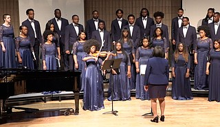 "In honor of Black History Month, Jackson State University's Concert Chorale recently performed a spiritual rendition of ""Lord, How Come We Here,"" which the university presented online in partnership with Mississippi Public Broadcasting and the Two Mississippi Museums in Jackson. Photo courtesy JSU"