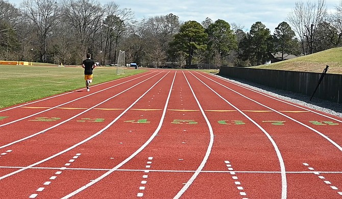 Belhaven University recently completed construction on a new eight-lane track and field complex. Photo courtesy Belhaven University