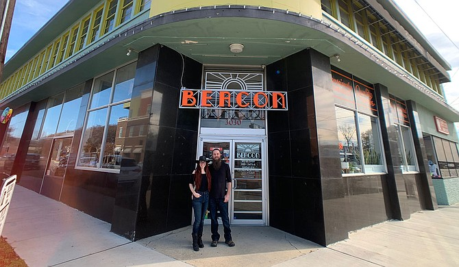 Longtime artists Nicole Wyatt Jenkins and her husband, Jason Jenkins, own and operate The Beacon, an art-supply store that also sells a variety of local vendor-produced goods. Photo courtesy Nicole Wyatt Jenkins