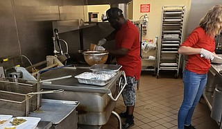 Wright's Foundation for Better Communities and Stewpot Community Services' Opportunity Center collaborate to feed the homeless community this Easter. Photo courtesy Wright's Foundation
