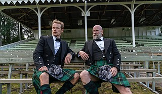 """In """"Men in Kilts,"""" co-hosts Sam Heughan and Jamie Fraser tour Scotland, learning more about the history and culture of their homeland. Photo courtesy Starz Entertainment, LLC"""
