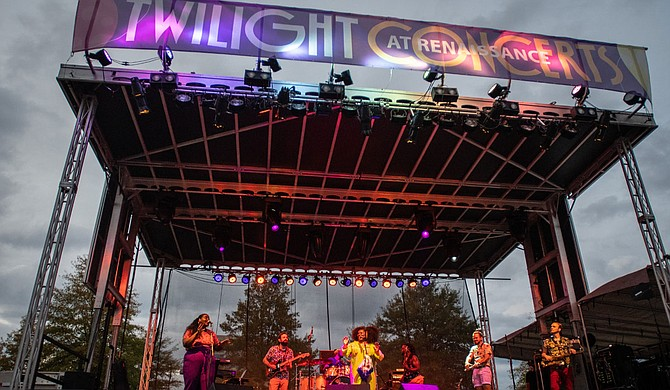 Ardenland and Wratchet Entertainment Group's first installation of the socially distant Twilight Concerts series back in November 2020 featured artists such as Tank and the Bangas. Photo courtesy Blair Ballou
