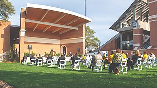 The University of Southern Mississippi's Southern Miss Alumni Association recently announced the completion of a multi-use entertainment venue called Southern Station in Spirit Park on the university's campus. Photo courtesy USM