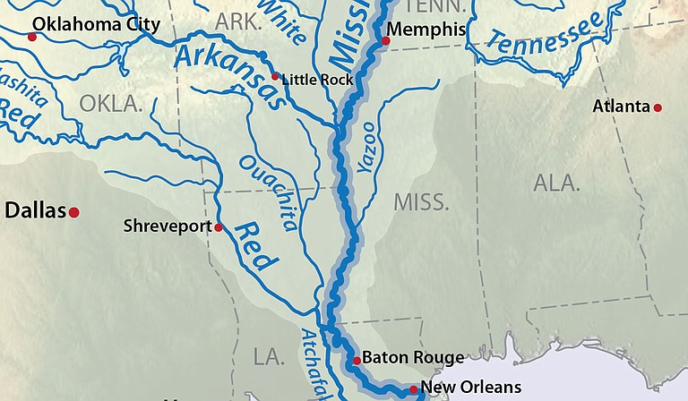 A coalition of conservation groups is suing the U.S. Army Corps of Engineers over a massive flood-control project in the south Mississippi Delta they say was hastily approved in the final days of the Trump administration. Photo courtesy USGS
