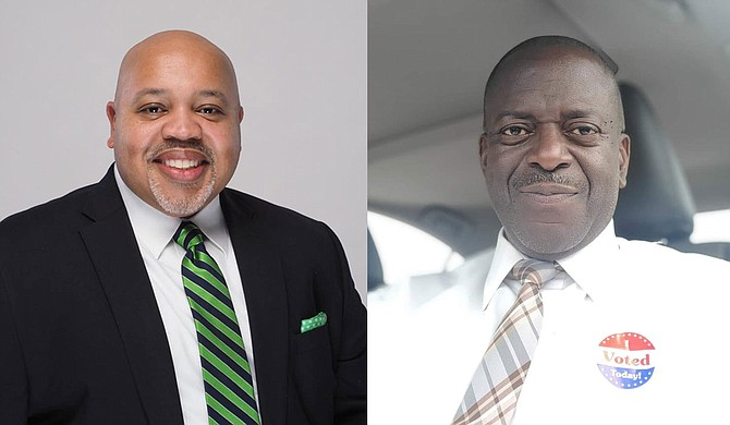 Brian C. Grizzell (left) and Vernon Hartley (right) won the Democratic Party run-off election for Wards 4 and 5, respectively, on Tuesday, April 27, based on unofficial results released by the election commission. Photos courtesy Brian Grizzell and Vernon Hartley