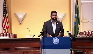 Mayor Chokwe A. Lumumba said at a media briefing on Monday, May 3, that he is planning to lift COVID-19 pandemic capacity restriction on businesses soon.  Photo courtesy City of Jackson
