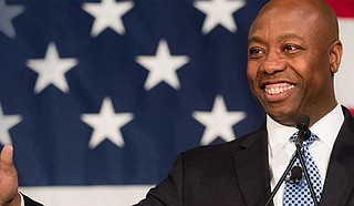 """Jennifer O'Riley Collins writes that when Republican Sen. Tim Scott said """"America is not a racist country,"""" he was both whistling to the GOP base and to those who know he is wrong. She urges people to join forces to face and respond to racism. Photo courtesy Sen. Tim Scott"""