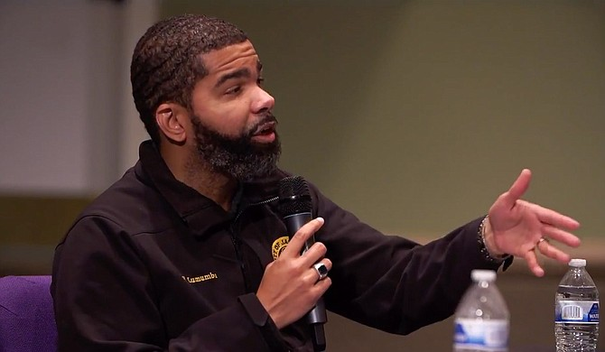 Mayor Chokwe A. Lumumba said at the special Jackson City Council meeting on Tuesday, May 4, at New Horizon Church on Ellis Avenue that poverty is linked to crime. Photo courtesy City of Jackson