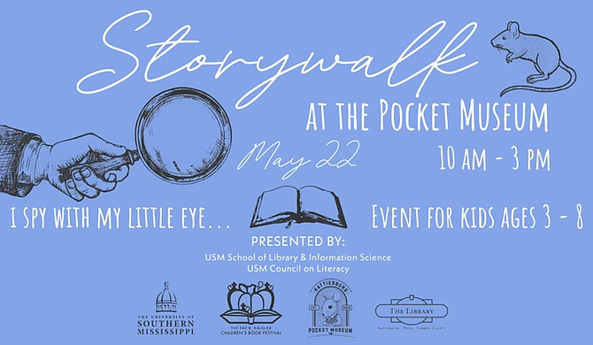 The University of Southern Mississippi's School of Library and Information Science will host a literacy and physical activity-themed event called StoryWalk on Saturday, May 22, from 10 a.m. to 3 p.m. at the Hattiesburg Pocket Museum. Photo courtesy USM