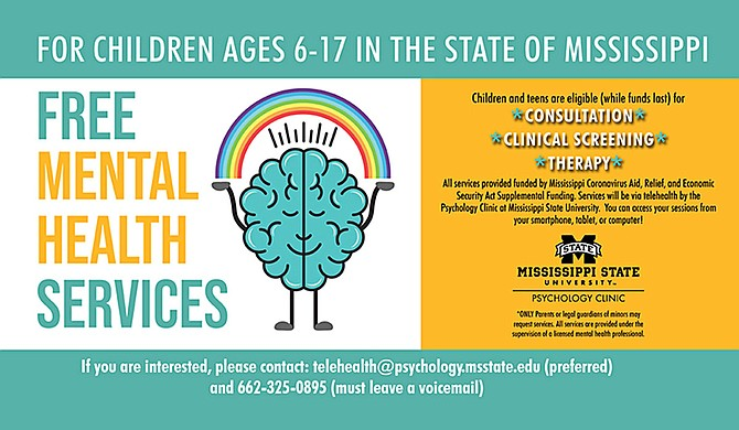 Mississippi State University's Psychology Clinic recently received a $200,000 grant from the Coronavirus Aid, Relief, and Economic Security Act to provide free mental-health services for children in the state. Photo courtesy MSU