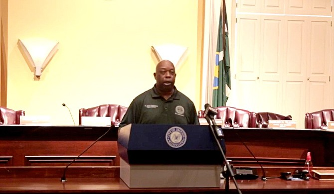 Parks and Recreation Deputy Director Abram Muhammad explained that the department is working to improve the Jackson Zoo at a press conference on Wednesday, June 2. Part of that is taking care of its staff. Photo courtesy City of Jackson