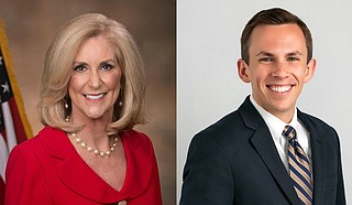 Attorney General Lynn Fitch (left) and Auditor Shad White (right) announced Monday that the state had reached the settlement with Centene Corp., which it called the largest Medicaid managed care organization in the U.S. Photo courtesy State of Missisippi