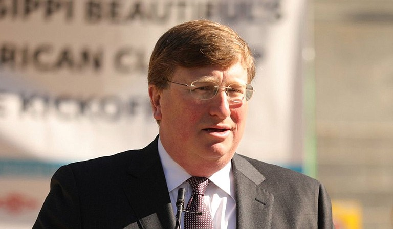 Gov. Tate Reeves expressed his support for a legislative special session to reimplement a state medical marijuana program this Tuesday at a Lee County press event. The state Supreme Court struck the program from law on May 14. Photo courtesy State of Mississippi