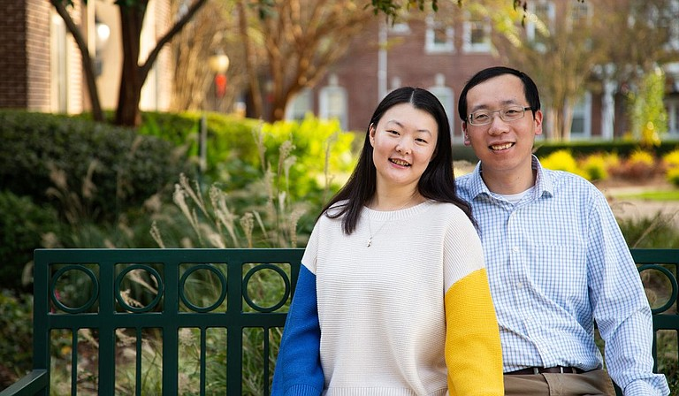 """In 2018, Xiwei """"Aaron"""" Wu and his wife, Langshan Song, both natives of China who learned English as a second language, founded Beyond English as a way to help students in China, Japan and the Jackson metro better learn English—with the assistance of native English speakers who are TESOL- or ESL-certified and work as tutors for the program. Photo courtesy Brittany Davis"""