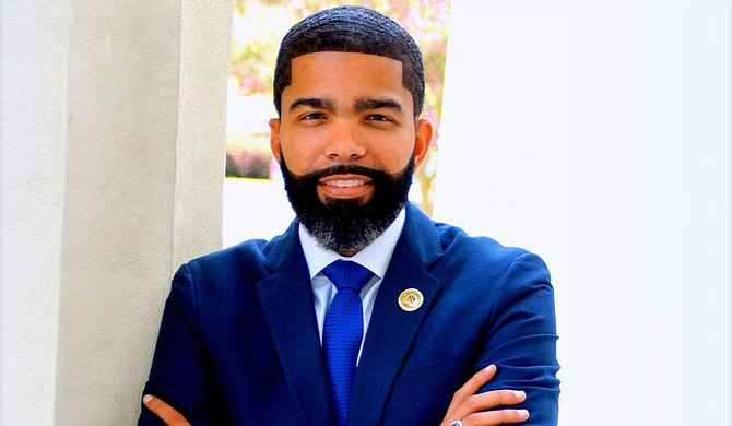 Mayor Chokwe A. Lumumba called on the people to join in moving the City forward at his swearing in for a second term on Thursday, July 1, at Jackson Convention Complex. Photo courtesy City of Jackson