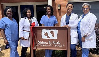 Sisters in Birth's staff works to defy grave maternal mortality rates by coming alongside women at the beginning of their pregnancy and using in-home care to help them address risk factors, such as obesity and tobacco use. Photo courtesy Sisters in Birth