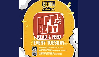 """Phillip """"DJ Young Venom"""" Rollins, owner of Offbeat in Jackson's Midtown neighborhood, is partnering with Mississippi M.O.V.E. to host a new weekly event called """"Offbeat Read and Feed"""" as part of the Freedom Summer Project. Photo courtesy Offbeat"""