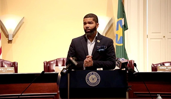 Mayor Chokwe A. Lumumba said at a press conference on Monday, July 12, 2021, that a debt-forgiveness program for water bills is now available in the city if residents fulfill certain conditions. Photo courtesy City of Jackson