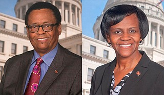 Democratic Sens. Sampson Jackson (left) of Preston and Tammy Witherspoon (right) of Magnolia stepped down June 30, the last day of the state budget year. Witherspoon was inaugurated the next day as mayor of her hometown. Photos courtesy Sampson Jackson and Tammy Witherspoon