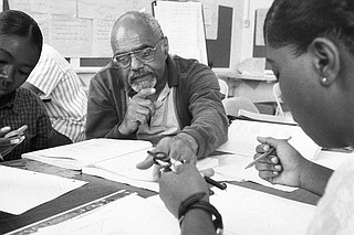 Bob Moses used a MacArthur Foundation genius grant to create and launch the Algebra Project in 1982  to help rural and urban students achieve math literacy and to train teachers, administrators, and community activists to be math coaches. He taught math himself from Lanier High School in Jackson for years. Photo by David Rae Morris