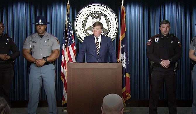 """Gov. Tate Reeves announced what he called a """"saturation"""" of state police into the capital city—from increased traffic stops to more undercover drug ops. Photo courtesy State of Mississippi"""