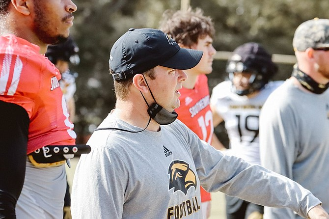 After a flux of changes to its coaching staff, the University of Southern Mississippi named Will Hall as its new head coach on Dec. 7, 2020. This year will mark Hall's first full year of directing the Golden Eagles' play. Photo courtesy USM