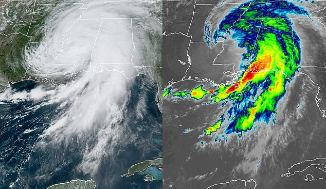 Hurricane Ida barreled into Louisiana on Sunday, leaving a swathe of destruction and causing at least one death before moving into Mississippi, where more than 100,000 residents lost power. Photo courtesy National Oceanic and Atmospheric Administration