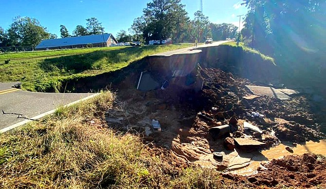 Hurricane Ida damaged at least 164 homes in Mississippi, destroying six of those and leaving 42 with major damage, state officials said Wednesday. Photo courtesy Mississippi Highway Patrol