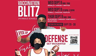 The Jackson Public School District is encouraging students, faculty, parents and community members to get vaccinated this week at various middle schools. Photo courtesy JPS