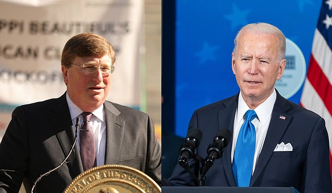 President Joe Biden listed broad new requirements for federal workers and large private companies this week in order to combat the still increasing rate of COVID-19 spread. Gov. Tate Reeves fought back against the order yesterday and today. Photos courtesy Gov. Tate Reeves and Adam Shultz