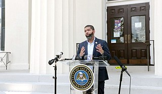 Mayor Chokwe A. Lumumba declared a state of emergency on Friday, Sept. 17, 2021, which gives him the authority to get a temporary waste collection and hauling services contract for the City. Photo courtesy City of Jackson