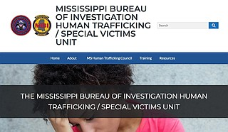 The state of Mississippi has developed a website for people to report suspected cases of human trafficking and find help for victims. Photo courtesy Mississippi Special Victims Unit