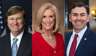 The Mississippi Board of Election Commissioners—made up of Gov. Tate Reeves, Attorney General Lynn Fitch and Secretary of State Michael Watson—said that because only one candidate remained, no election was needed for the District 29 race. Reeves issued an order saying Robert Sanders had been elected. Photo courtesy State of Mississippi