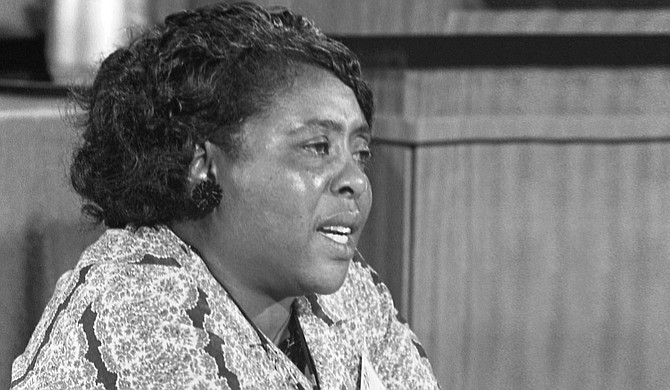 """Entry to two Mississippi history museums is free Wednesday to mark the birthday of the late civil rights icon Fannie Lou Hamer, known for saying she was """"sick and tired of being sick and tired."""" Photo courtesy Warren K. Leffler, U.S. News & World Report Magazine/Public Domain"""
