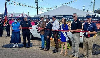 Commissioner of Agriculture and Commerce Andy Gipson officiated the fair's opening ceremony last night, cutting the ribbon with the help of other state leadership. Photo courtesy Andy Gipson