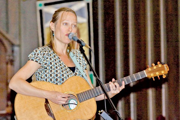 Jackson native Claire Holley performs in front of a small crowd of 163 people at St. Andrew's Episcopal Cathedral.