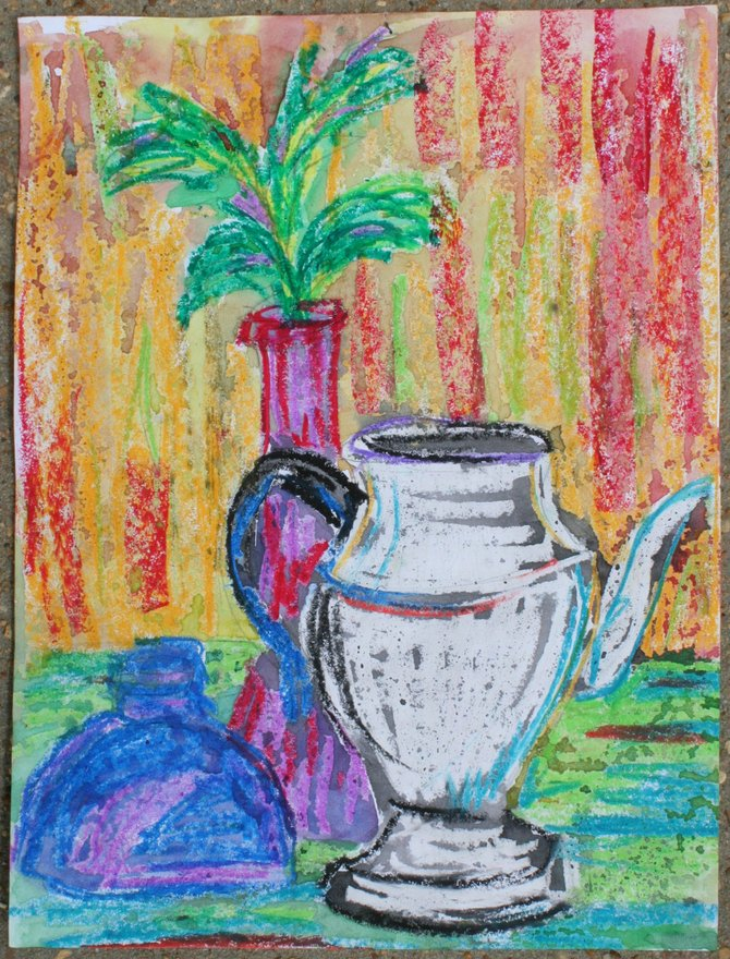 Artwork like this piece by Elisha Smith from Lanier High School will be displayed and auctioned at Arts, Eats & Beats, April 2.