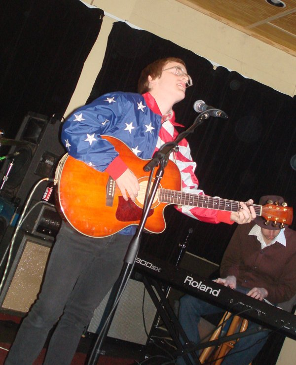 Dent May, of the Cowboy Maloney's Electric City, performs in a March 5 show at Proud Larry's in Oxford.