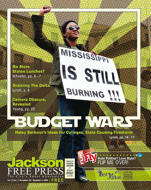 On the cover: Rachel Johns protests the proposed merger of HBCUs at the state capitol.
