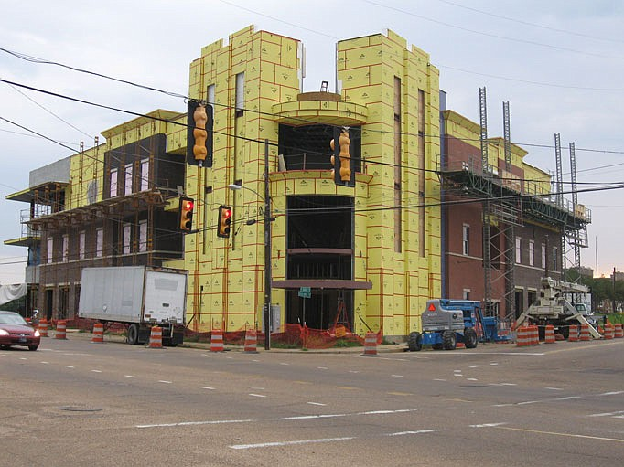 Progress continues at Fondren Place and Duling, slated to be the newest Peters Real Estate developments.